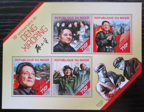 Poštovní známky Niger 2014 Teng Siao-pching, èínský politik Mi# 2885-88 Kat 12€