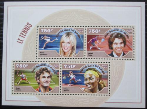 Poštovní známky Niger 2014 Svìtoví tenisti Mi# 3259-62 Kat 12€