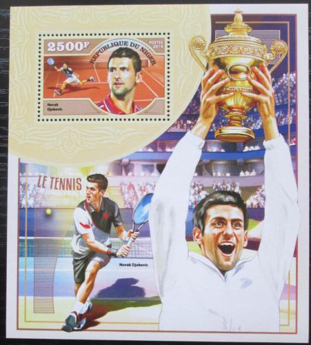 Poštovní známka Niger 2014 Novak Djokoviæ, tenis Mi# Block 396 Kat 10€