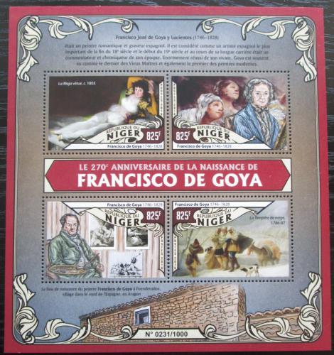 Poštovní známky Niger 2016 Umìní, Francisco de Goya Mi# 3977-80 Kat 13€