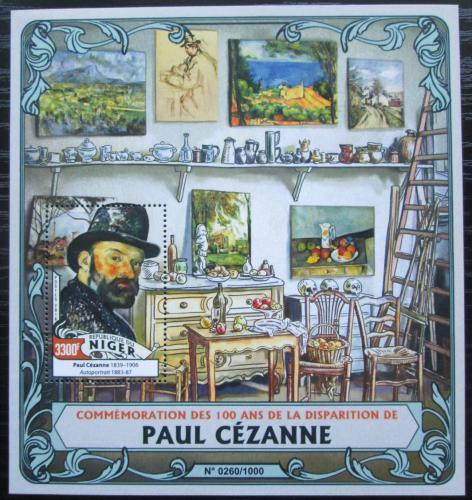 Poštovní známka Niger 2016 Umìní, Paul Cézanne Mi# Block 502 Kat 13€