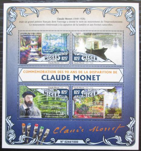 Poštovní známky Niger 2016 Umìní, Claude Monet Mi# 4022-25 Kat 13€