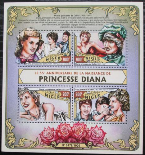 Poštovní známky Niger 2016 Princezna Diana Mi# 4057-60 Kat 14€