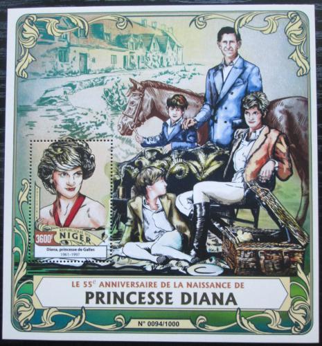 Poštovní známka Niger 2016 Princezna Diana Mi# Block 516 Kat 14€