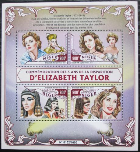 Poštovní známky Niger 2016 Elizabeth Taylor Mi# 4082-85 Kat 14€