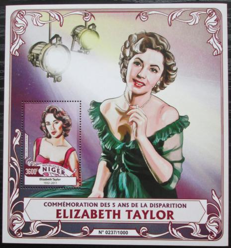 Poštovní známka Niger 2016 Elizabeth Taylor Mi# Block 521 Kat 14€
