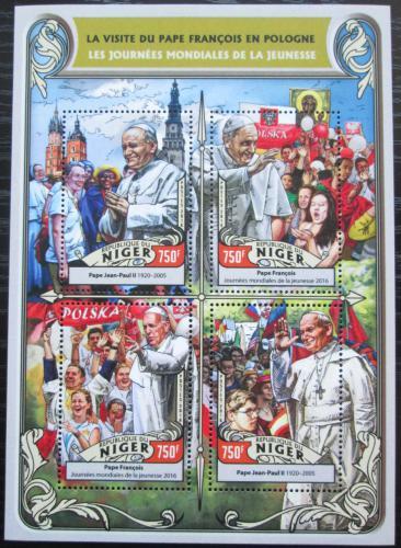 Poštovní známky Niger 2016 Cesty papežù do Polska Mi# 4312-15 Kat 12€