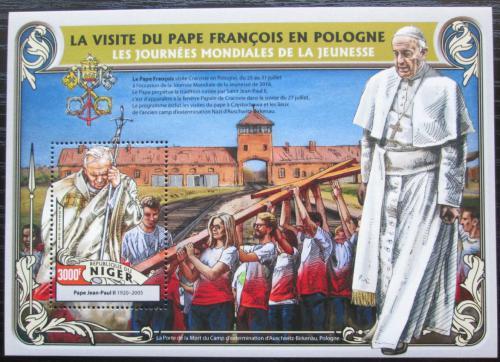 Poštovní známka Niger 2016 Cesty papežù do Polska Mi# Block 567 Kat 12€