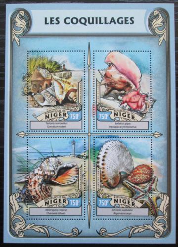 Poštovní známky Niger 2016 Mušle Mi# 4222-25 Kat 12€