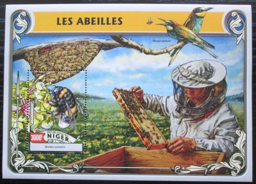 Poštovní známka Niger 2016 Vèely Mi# Block 550 Kat 12€