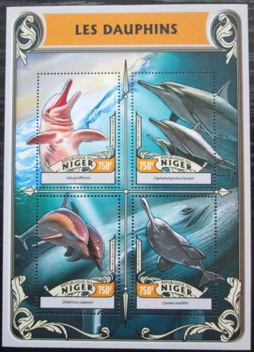 Poštovní známky Niger 2016 Delfíni Mi# 4247-50 Kat 12€