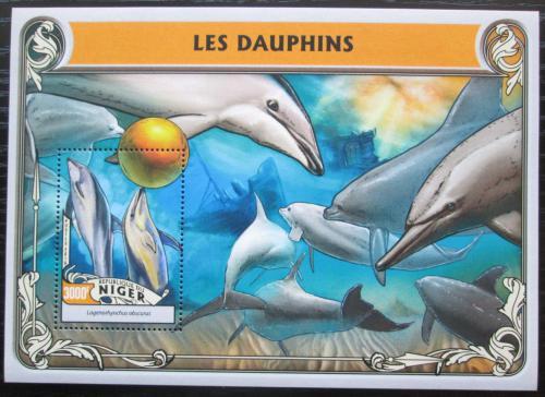 Poštovní známka Niger 2016 Delfíni Mi# Block 554 Kat 12€