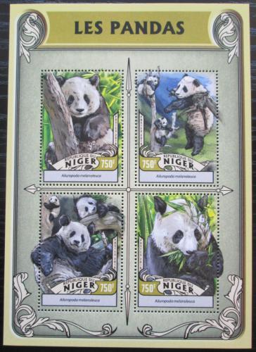Poštovní známky Niger 2016 Pandy Mi# 4252-55 Kat 12€