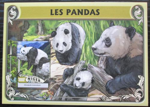 Poštovní známka Niger 2016 Pandy Mi# Block 555 Kat 12€