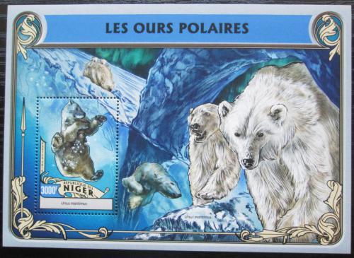 Poštovní známka Niger 2016 Lední medvìdi Mi# Block 556 Kat 12€
