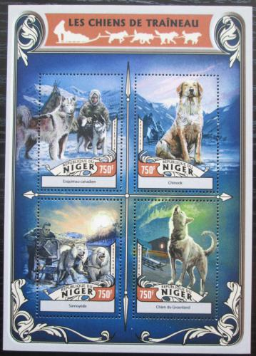 Poštovní známky Niger 2016 Tažní psi Mi# 4262-65 Kat 12€