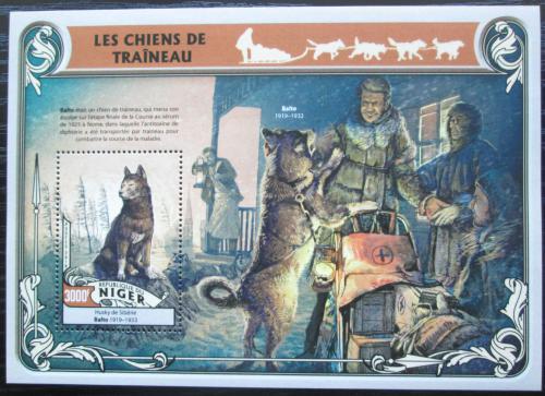 Poštovní známka Niger 2016 Tažní psi Mi# Block 557 Kat 12€