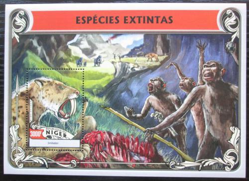 Poštovní známka Niger 2016 Vyhynulá fauna Mi# Block 553 Kat 12€