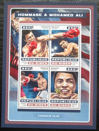 Poštovní známky Niger 2016 Muhammad Ali, box Mi# 4657-60 Kat 13€