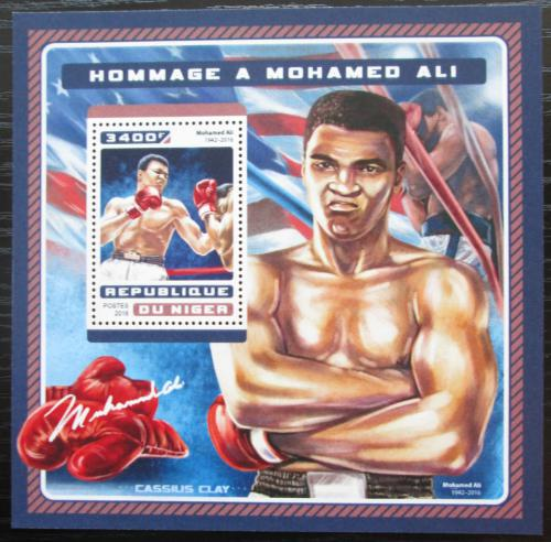 Poštovní známka Niger 2016 Muhammad Ali, box Mi# Block 636 Kat 13€