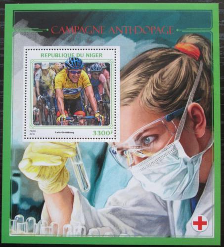 Poštovní známka Niger 2016 Boj proti dopingu Mi# Block 597 Kat 13€