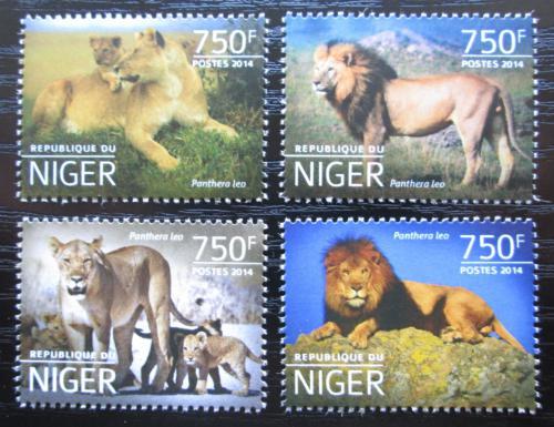 Poštovní známky Niger 2014 Lvi Mi# 3199-3202 Kat 12€
