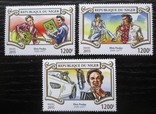 Poštovní známky Niger 2015 Elvis Presley Mi# 3602-04 Kat 14€