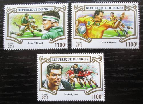 Poštovní známky Niger 2015 Rugby Mi# 3578-80 Kat 13€