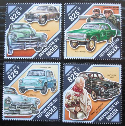 Poštovní známky Niger 2015 Sovìtské automobily Mi# 3922-25 Kat 13€