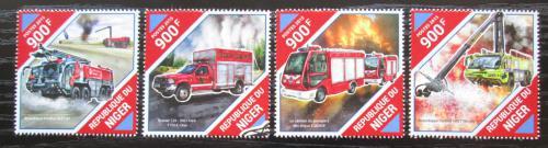 Poštovní známky Niger 2015 Hasièská auta Mi# 3927-30 Kat 14€