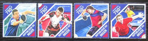 Poštovní známky Niger 2015 Stolní tenis Mi# 3947-50 Kat 12€