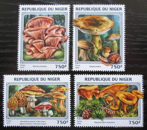 Poštovní známky Niger 2016 Houby Mi# 4417-20 Kat 12€