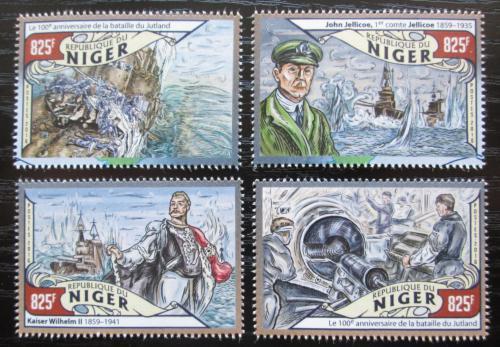 Poštovní známky Niger 2016 Bitva u Jutska, 100. výroèí Mi# 3997-4000 Kat 13€