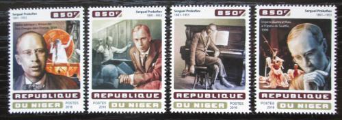 Poštovní známky Niger 2016 Sergej Prokofjev, skladatel Mi# 4637-40 Kat 13€