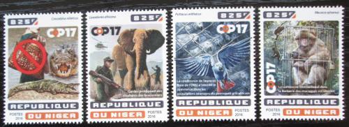 Poštovní známky Niger 2016 Boj proti lovu divoké zvìøe Mi# 4627-30 Kat 13€