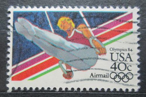 Poštovní známka USA 1983 LOH Los Angeles, gymnastika Mi# 1623 A
