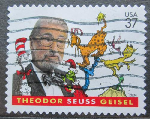 Poštovní známka USA 2004 Theodor Seuss Geisel, ilustrátor Mi# 3812
