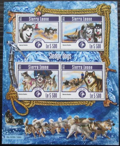 Poštovní známky Sierra Leone 2015 Tažní psi Mi# 6204-07 Kat 10€