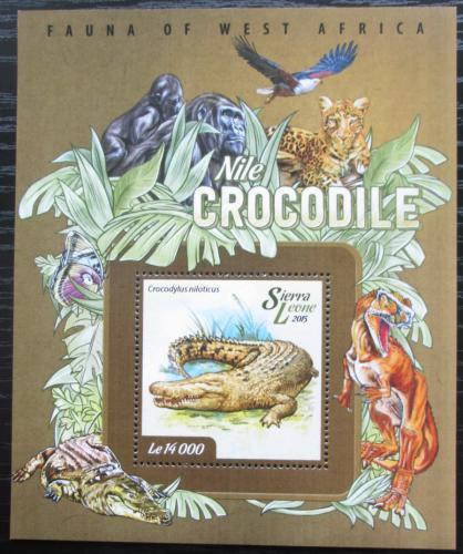 Poštovní známka Sierra Leone 2015 Krokodýl nilský Mi# Block 723