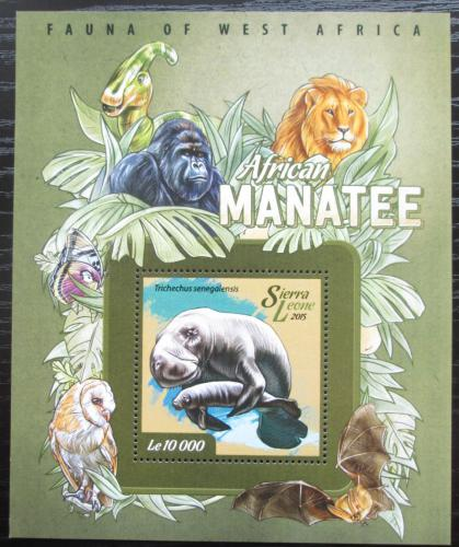 Poštovní známka Sierra Leone 2015 Kapustòák senegalský Mi# Block 736