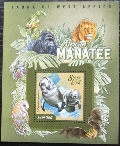 Poštovní známka Sierra Leone 2015 Kapustòák senegalský Mi# Block 737