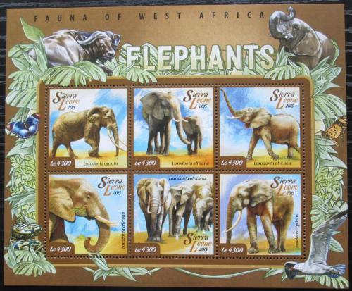 Poštovní známky Sierra Leone 2015 Slon africký Mi# 6034-39 Kat 11.50€