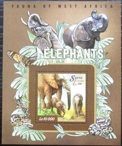 Poštovní známka Sierra Leone 2015 Slon africký Mi# Block 738