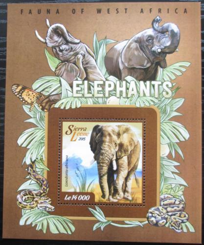 Poštovní známka Sierra Leone 2015 Slon africký Mi# Block 739