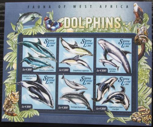 Poštovní známky Sierra Leone 2015 Delfíni Mi# 6074-79 Kat 11.50€