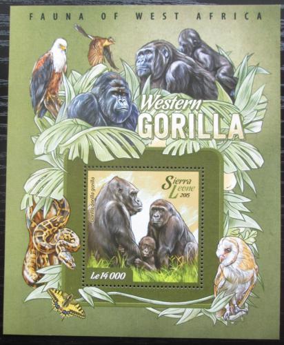Poštovní známka Sierra Leone 2015 Gorila nížinná Mi# Block 751