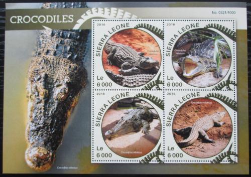 Poštovní známky Sierra Leone 2016 Krokodýl nilský Mi# 6828-31 Kat 11€