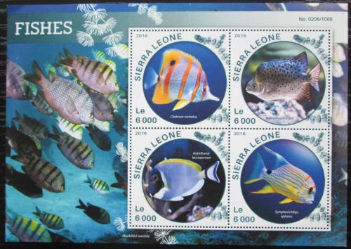 Poštovní známky Sierra Leone 2016 Delfíni Mi# 6873-76 Kat 11€