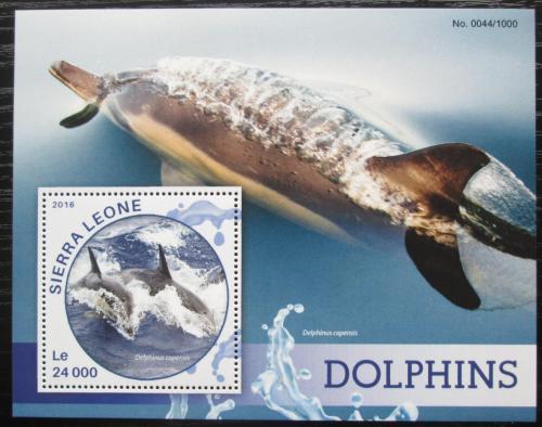 Poštovní známka Sierra Leone 2016 Delfíni Mi# Block 907 Kat 11€