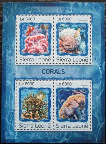 Poštovní známky Sierra Leone 2016 Korály Mi# 7933-36 Kat 11€
